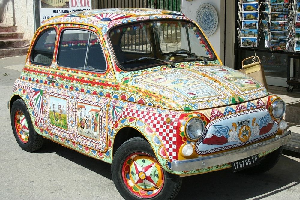 Kleurrijke auto