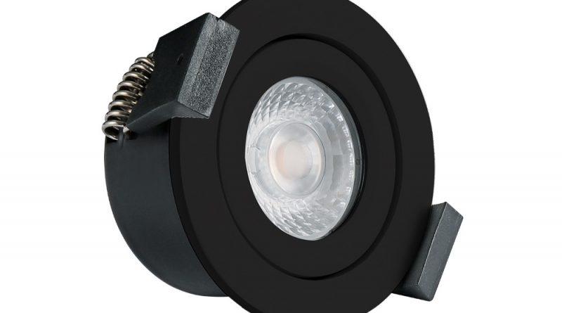 Zwarte LED inbouwspot